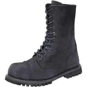Brandit Phantom Boots 10 Eyelet Nubuck Black