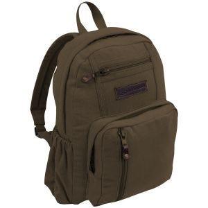 Highlander Salem Canvas 18L Backpack Brown