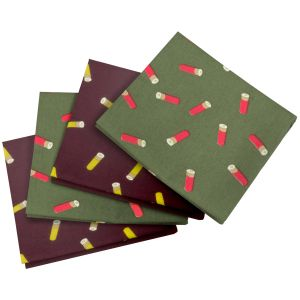 Jack Pyke 4 Pack Hankies Cartridge Wine/Green