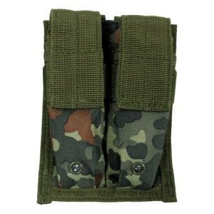 MFH Double 9mm Magazine Pouch Small MOLLE Flecktarn