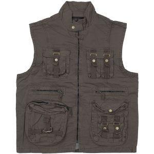 Mil-Tec Vintage Survival Vest Prewashed Black
