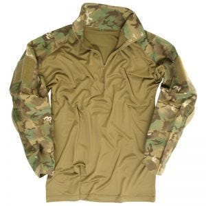 Mil-Tec Warrior Shirt with Elbow Pads Arid Woodland