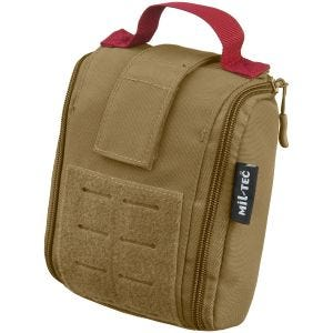 Mil-Tec Individual First Aid Kit Laser Cut Pouch Dark Coyote