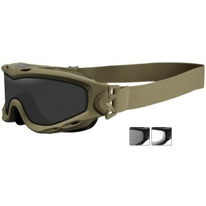 Wiley X Spear Goggles - Smoke Grey + Clear Lens / Tan Frame
