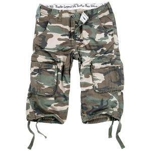 Surplus Trooper Legend 3/4 Shorts Woodland Washed