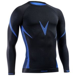 Tervel Optiline Shirt Long Sleeve Black/Blue