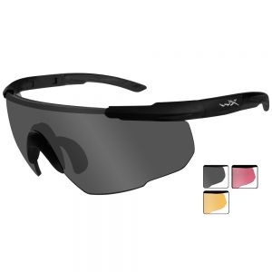 Wiley X Saber Advanced - Smoke Grey + Light Rust + Vermillion Lens / Matte Black
